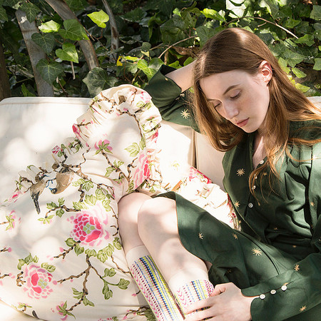 Erica Tanov lovebird ruffled sham