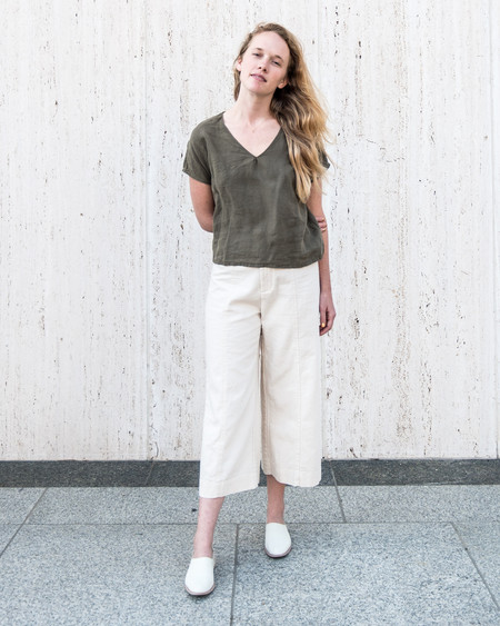 Esby AVEY TOP - OLIVE