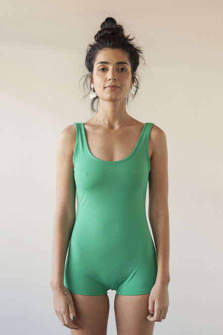SUNJA LINK SWIMSUIT GREEN