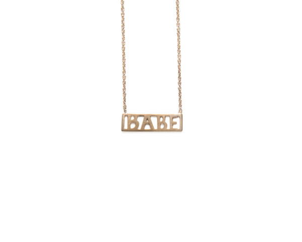 Winden Babe Necklace YG