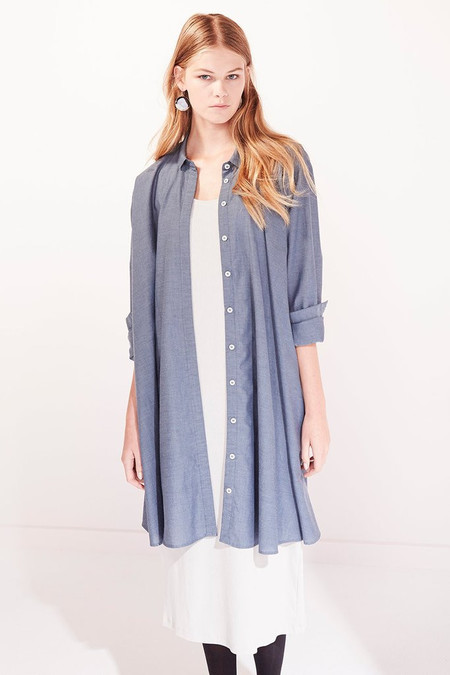 KOWTOW Boundary Shirt Dress in Chambray