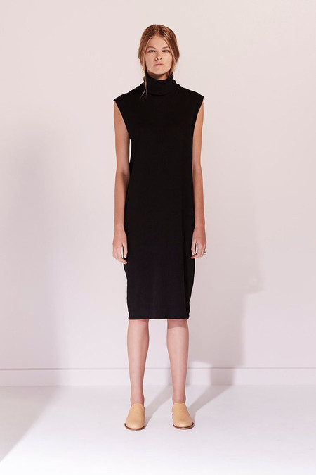KOWTOW Building Block Rib Roll Neck Dress in Black