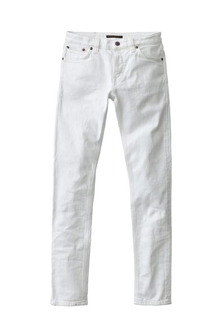 Nudie Jeans Skinny Lin - Blazing White