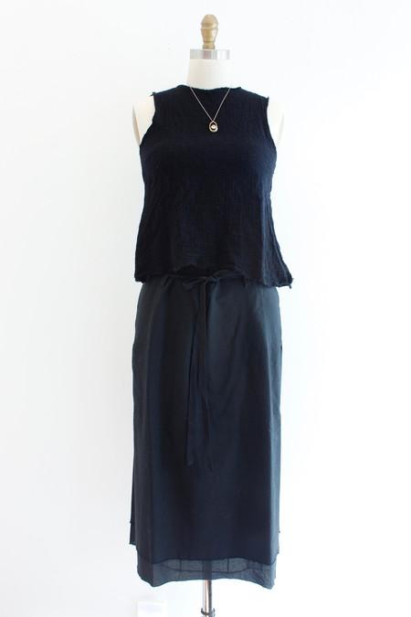Hazel Brown Wooly Black Vest