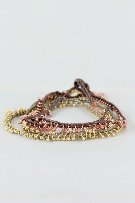 Marie Laure Chamorel Ribbon Bracelet in gold