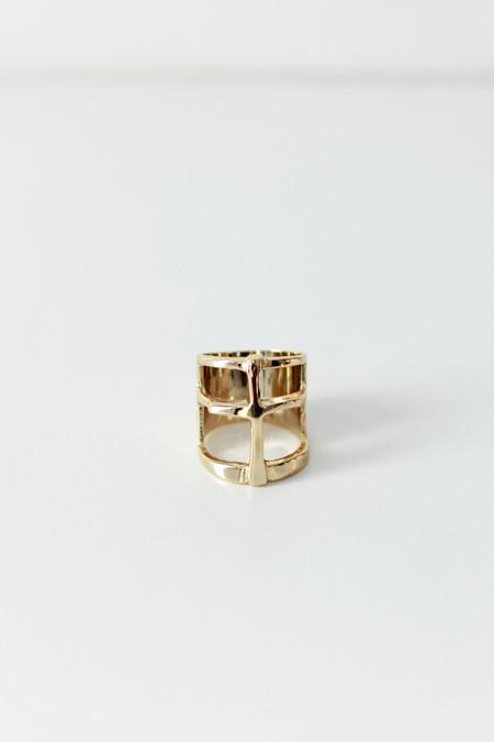 Pamela Love Cross Ring Gold
