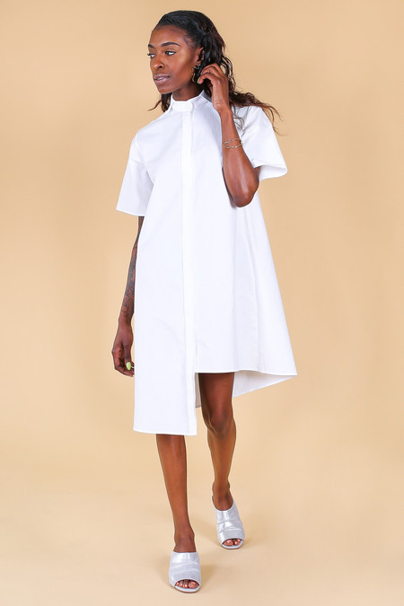 Elise Ballegeer Dive Dress in White