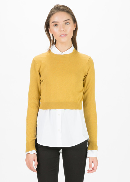 Organic by John Patrick Cropped Cotton Pullover