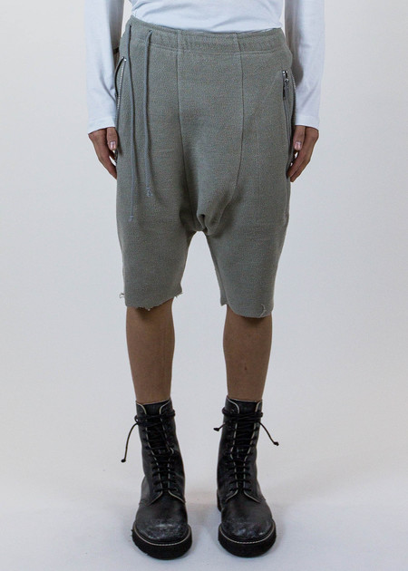 Siki Im Grey Zipper Drop Jog Shorts