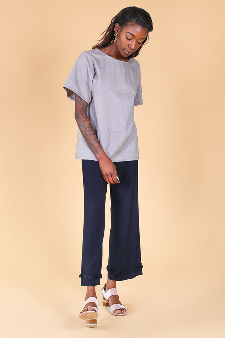 Elise Ballegeer Monk Top in French Grey