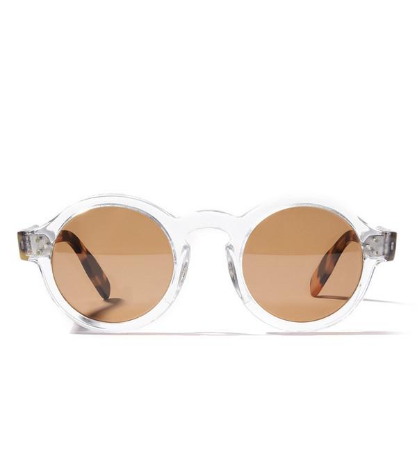 Mizaru Sunglasses in Crystal and Tortoise