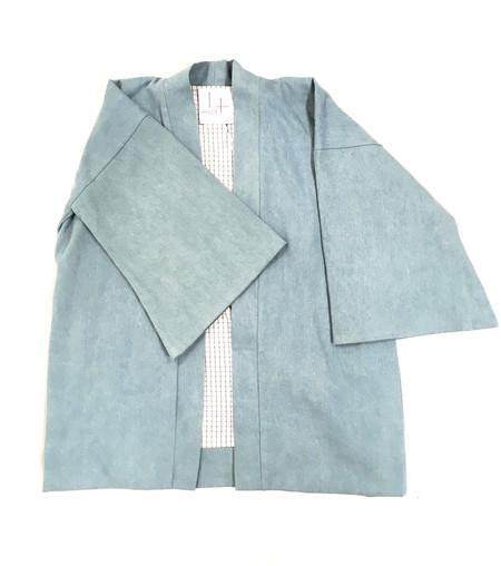 Hygge Kimono Jacket in Light Chambray