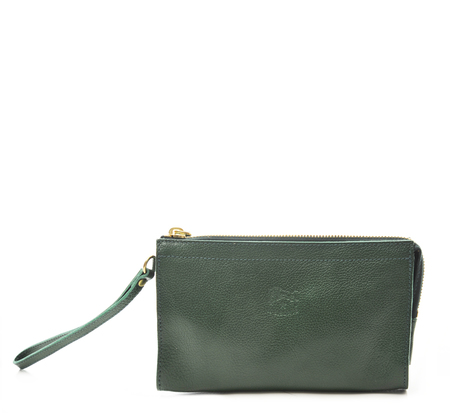 Il Bisonte C0906 Green Wallet
