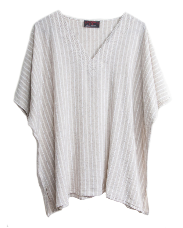 Tienda Ho 82 Top in Striped Linen