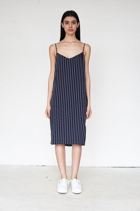 Assembly New York Poly Stripe Triangle Cami Dress