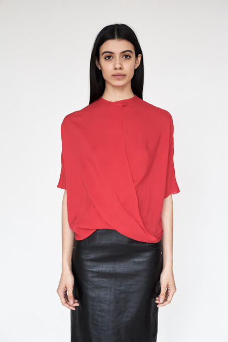Assembly New York Rayon Twist Top - Red