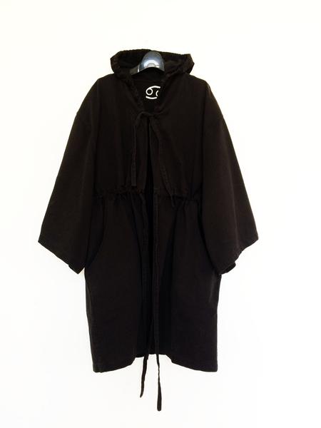 69 Denim Boxing Robe - Black