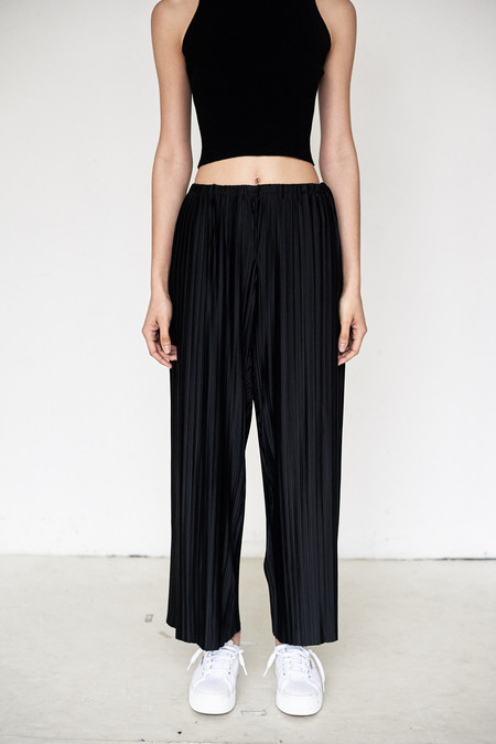 Assembly New York Poly Pleat Simple Pant
