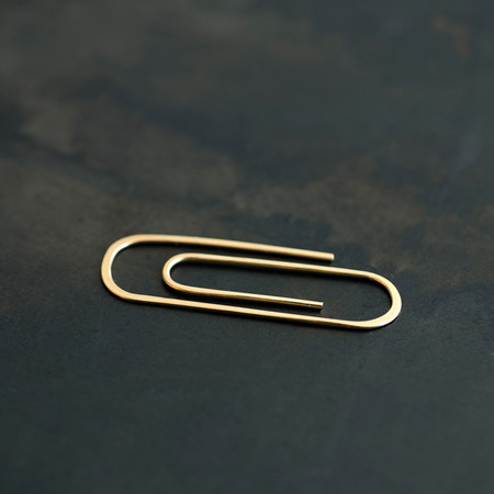 Aoko Su Single Paper Clip Earring
