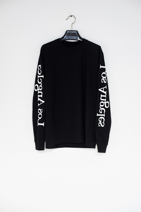 Assembly New York Cotton L/S Los Angeles Logo T-Shirt - Black