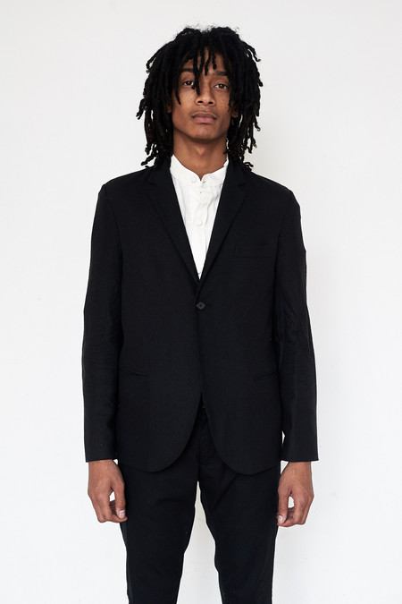 Assembly New York Raw Silk Traditional Blazer