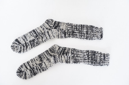Anonymous Ism Wool Marled Ribbed Socks