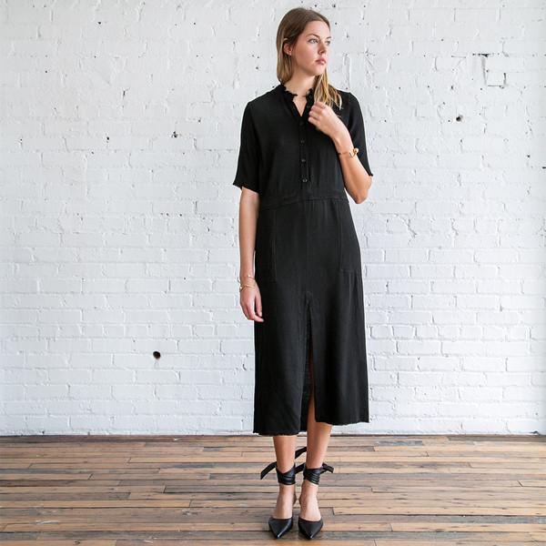 Raquel Allegra House Dress Black