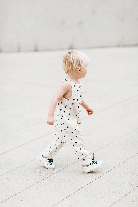 Kid's Rylee & Cru DOTS N' DIAMONDS BUTTON JUMPSUIT