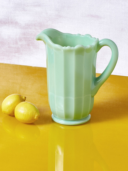 Mosser Glass Jadeite Milk Glass Pitcher