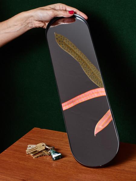 AYTM Long Black Mirror Tray