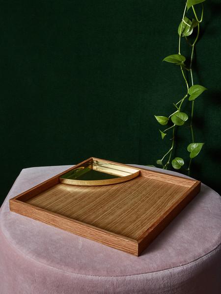 AYTM Oak Tray with Brass Insert