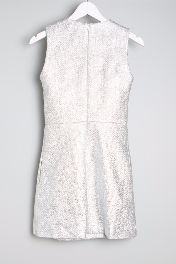 Maison Kitsune Silver Flore Dress