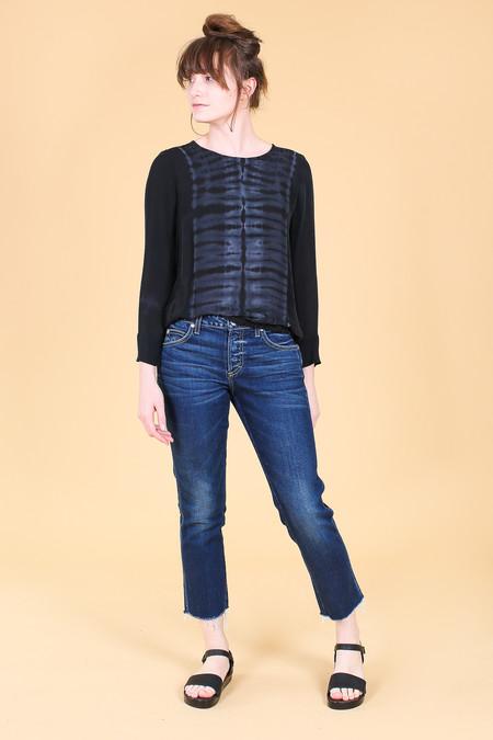 Raquel Allegra Sweatshirt in Black Tie Dye
