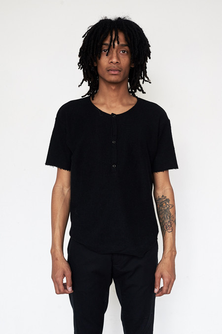 Assembly New York Cotton Reverse Terry Henley - Black