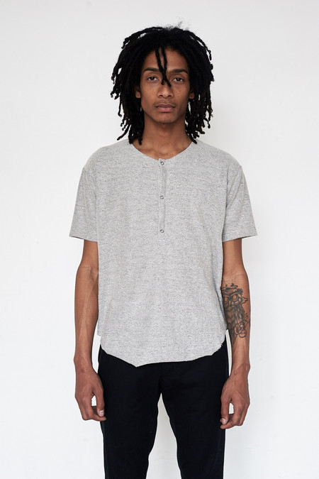 Assembly New York Cotton Reverse Terry Henley - Grey