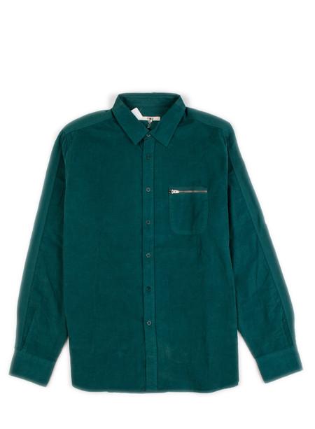 YMC - Zip Pocket Corduroy Shirt Green