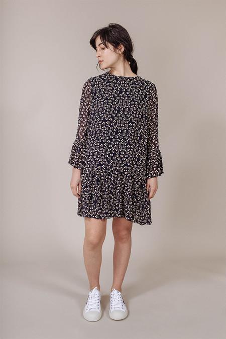 Ganni Newman Dress in Total Eclipse