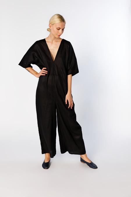 Miranda Bennett Muse Jumpsuit -  Linen in Black