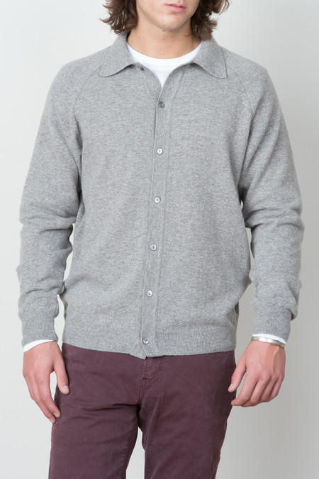 A Kind of Guise Aria Polo Jacket In Mid Grey