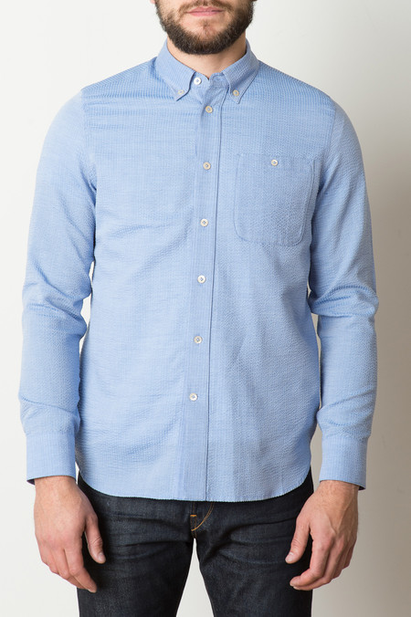 A Kind of Guise Boa Vista Shirt In Light Blue Melange