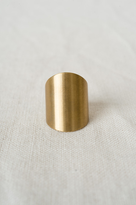 Marmol Radziner Double Tapered Ring In Brass