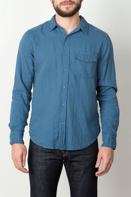 Save Khaki Gauze Work Shirt In Blue