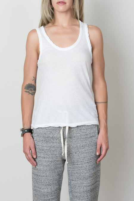 V::ROOM Highsoft Jersey Tank Top In White