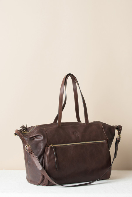 Il Bisonte Weekender Bag In Vintage Chestnut