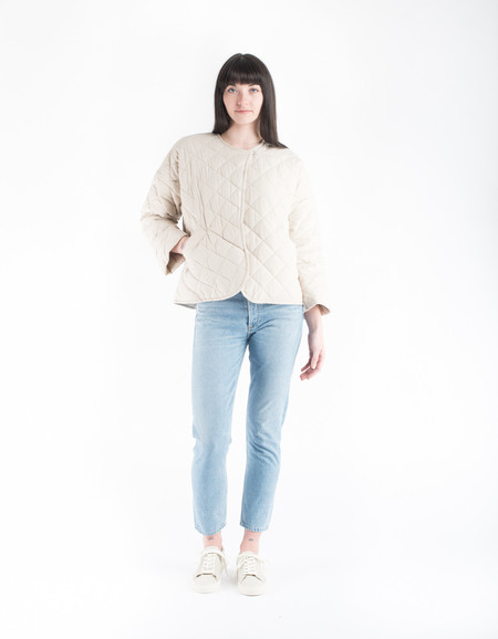 Kowtow Anchor Quilted Coat Oatmeal