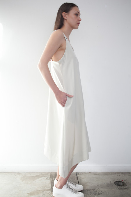 Luisa et la Luna Iga Dress in Beige Silk