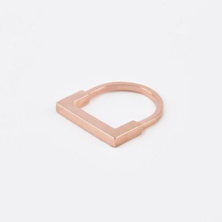 The Boyscouts Aeon Square Rose Gold Ring