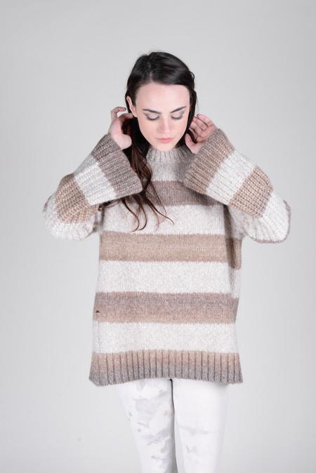 Raquel Allegra Bell Sleeve Stripe Raglan Sweater