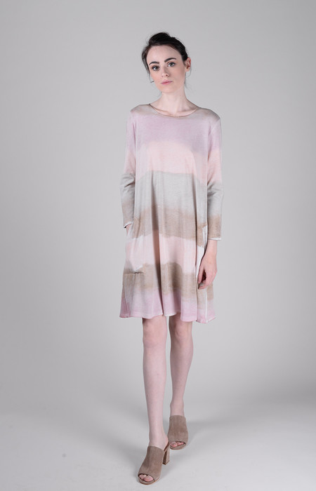 Raquel Allegra Signature Jersey 3/4 Sleeve Bell Dress