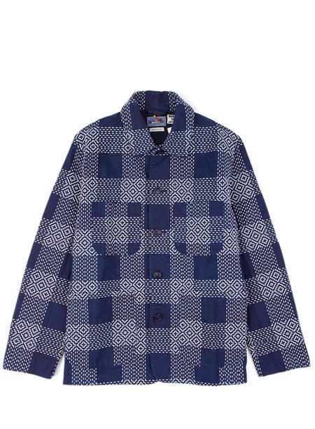 "Blue Blue Japan White ""Sashiko"" Stitched Coverall Jacket"